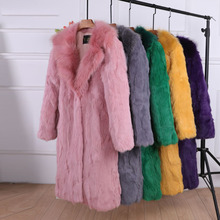 Coat Faux-Rabbit-Fur Luxury Long-Fur Plus-Size Winter Women's High-Quality Warm Thick