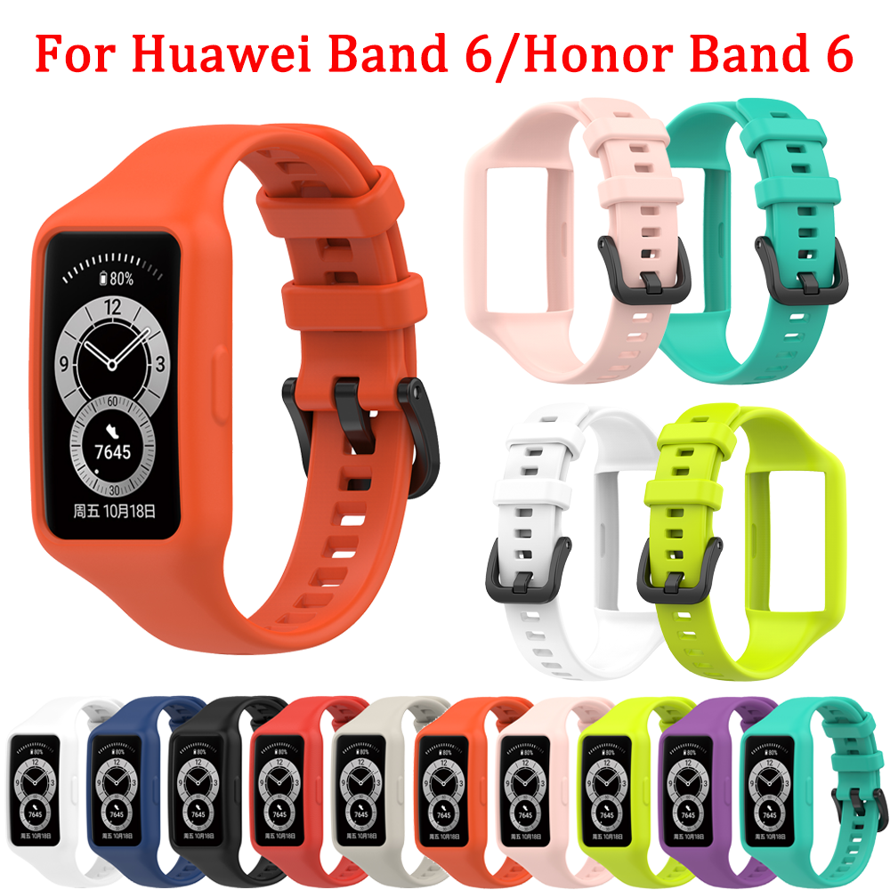 Colors Silicone strap Compatible with Huawei Band 6/Honor Band 6 Replacement smart bracelet strap for Huawei Band 6 strap