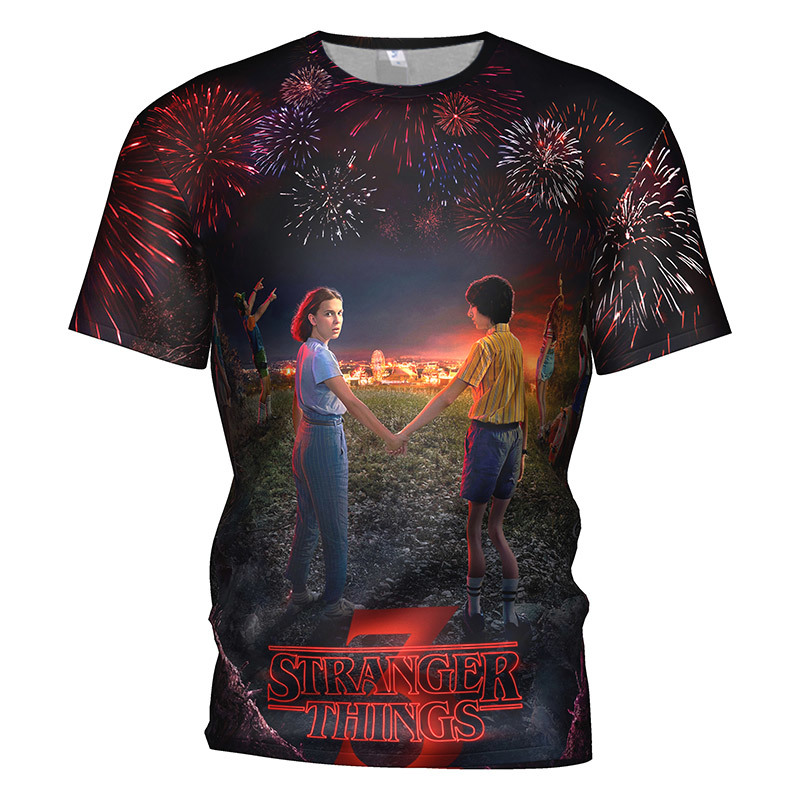 3d Printed Stranger Things  3 T Shirt Men/women Horror Movie Montauk Gym T-shirt Gothic Hip Hop Streetwear Tee Tshirt