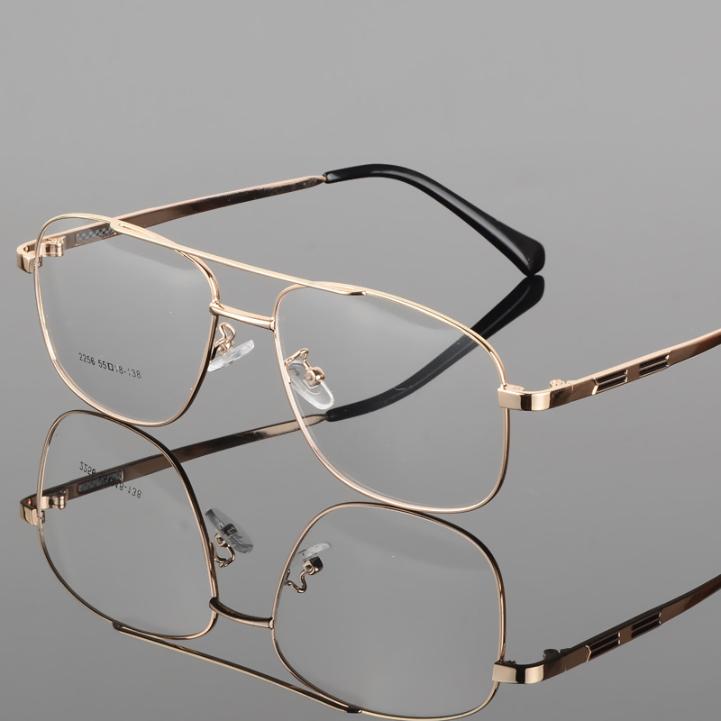 Vazrobe Gold Eyeglasses Frame Men Glasses Man Prescription Spectacles Square Vintage Eyewear for Diopter Myopia Optic Lens image