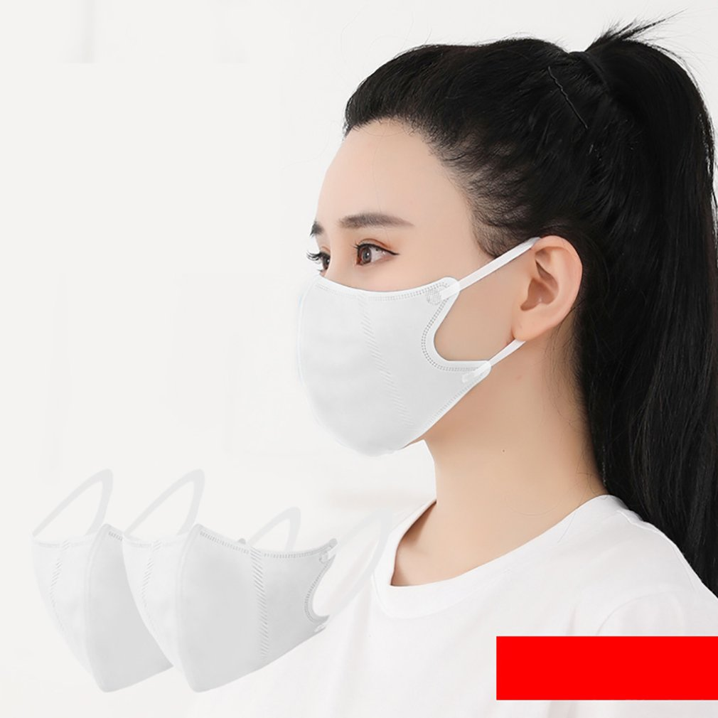 5Pcs Practical Disposable Mouth Masks Adult Anti Haze Mask Anti-dust Mouth Masks Windproof Mouth Face Masks