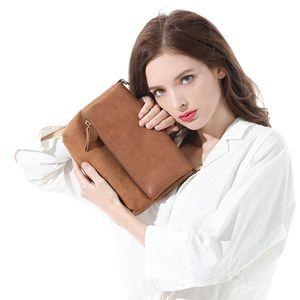 Image 2 - AFKOMST Casual Women Small Crossbody Bag Brown Vintage Satchel Purse Soft Lightweight Front Flap Design Messenger Bag CT30080