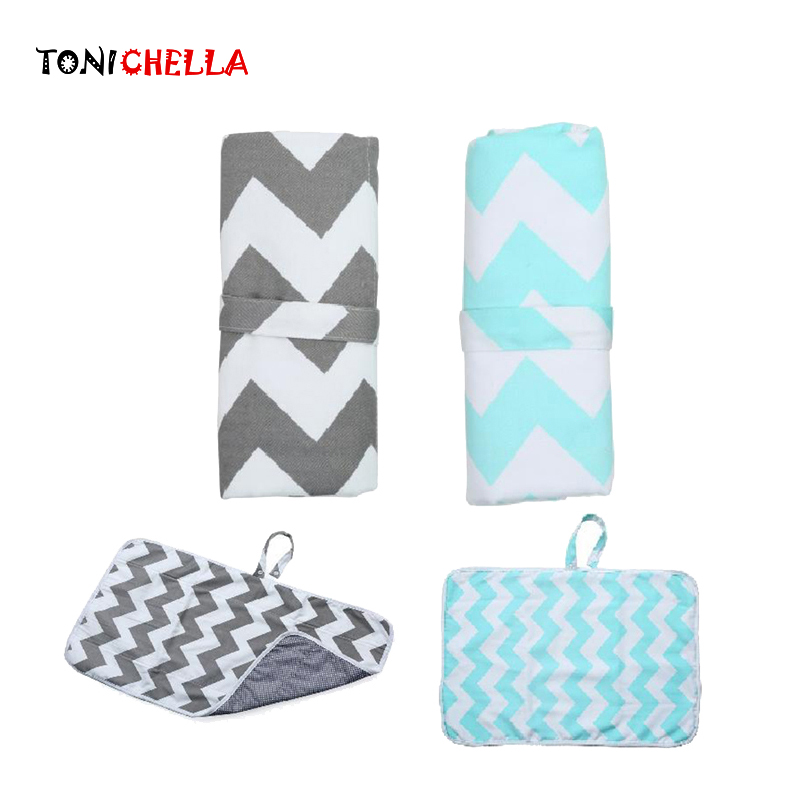 Baby Portable Foldable Diapering Pad Infant Diaper Changing Pads Waterproof Kid Floor Play Mats Travel Baby Care Utensils T0753