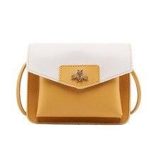 Yaphlee Mini Cute Solid Color PU Leather Crossbody Bags For Women 2019 Girls Shoulder Messenger Bag Female Travel Coin Handbags