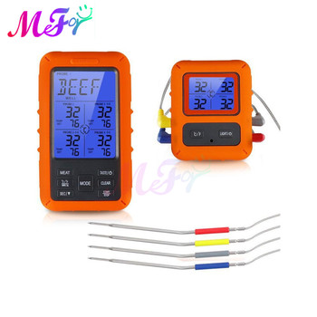 Digital BBQ Thermometer Wireless Kitchen Oven Food Cooking Grill Smoker Meat Thermometer Probe Temperature Receiver Transmitter digital probe food cooking timer kitchen bbq oven grill meat thermometer tool for bbq smoker grilling kitchen accessories