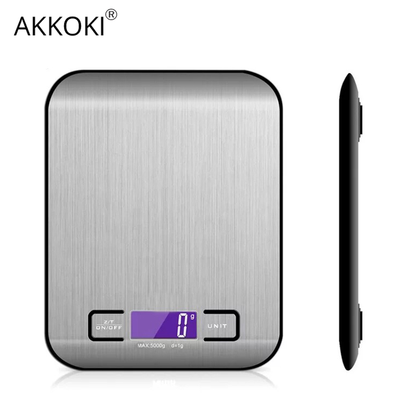 22LB/10kg Electronic Kitchen Scale LCD Digital Stainless Steel Food Weighing Multi-function High Precision Measuring Tools Libra