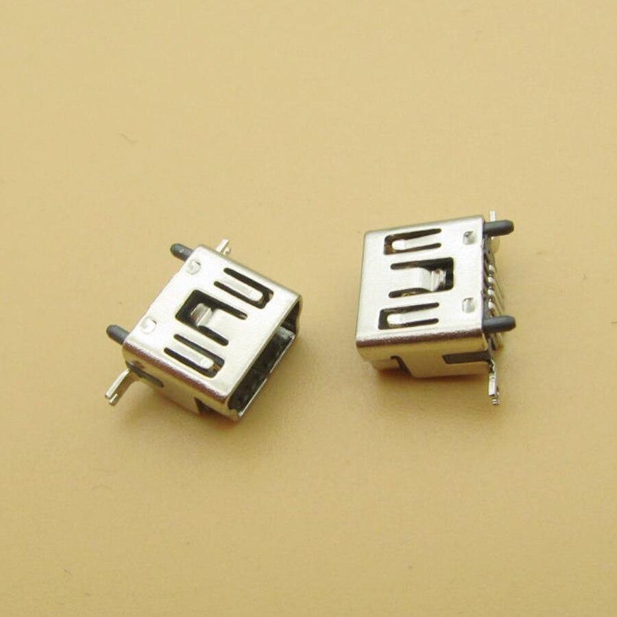 5PCS Mini USB Type B Female 5 Pin DIP Vertical Leg PCB 180 Degree Socket Connector V3 Micro USB Short Paragraph