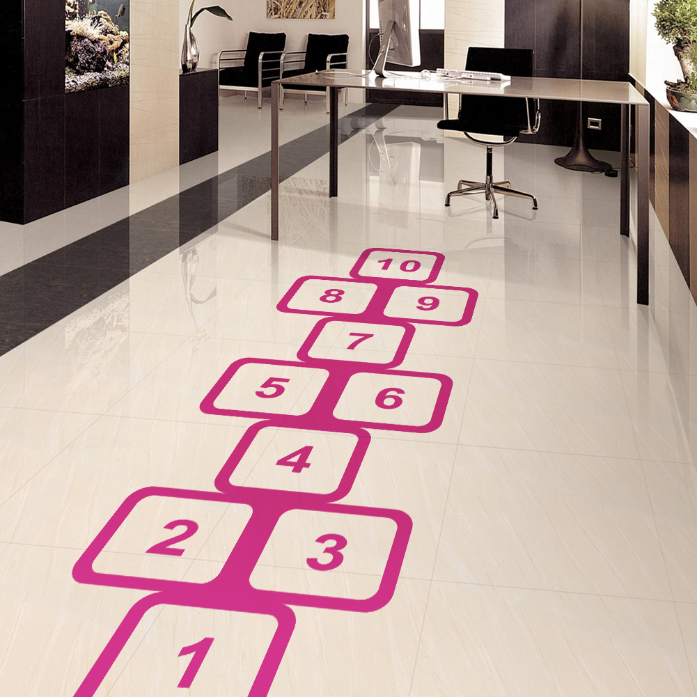 8310 Taobao Hot Selling Classic Game Hopscotch CHILDREN'S Room Bedroom Extra Large Wall Stickers Customizable Wholesale