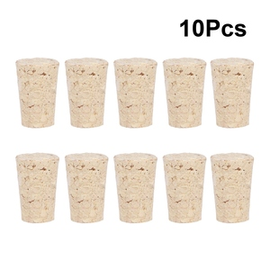 10Pcs/Pack Natural Wooden Wine Corks Premium Straight Cork Stopper Excellent For Bottled Wine Household Kitchen Accessories