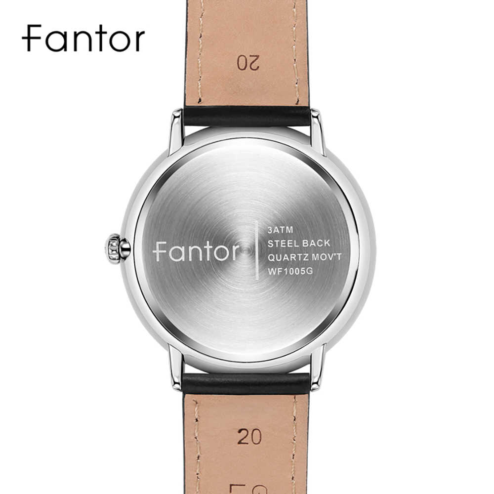 Fantor sukienka na co dzień mężczyźni proste klasyczne zegarek na rękę męskie Top marka luksusowe kwarcowe prawdziwej skóry zegarki Relogio Masculino