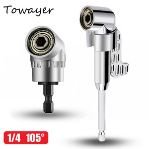 105 Degree Angle Screwdriver Set Holder Adapter Adjustable Bits Nozzles Angle Screw Driver Tool 1/4