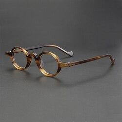 Acetat Kleine Runde Gläser Männer Retro Vintage Platz Brillen Rahmen Frauen Myopie Rezept Rahmen der Brillen Brillen Klar