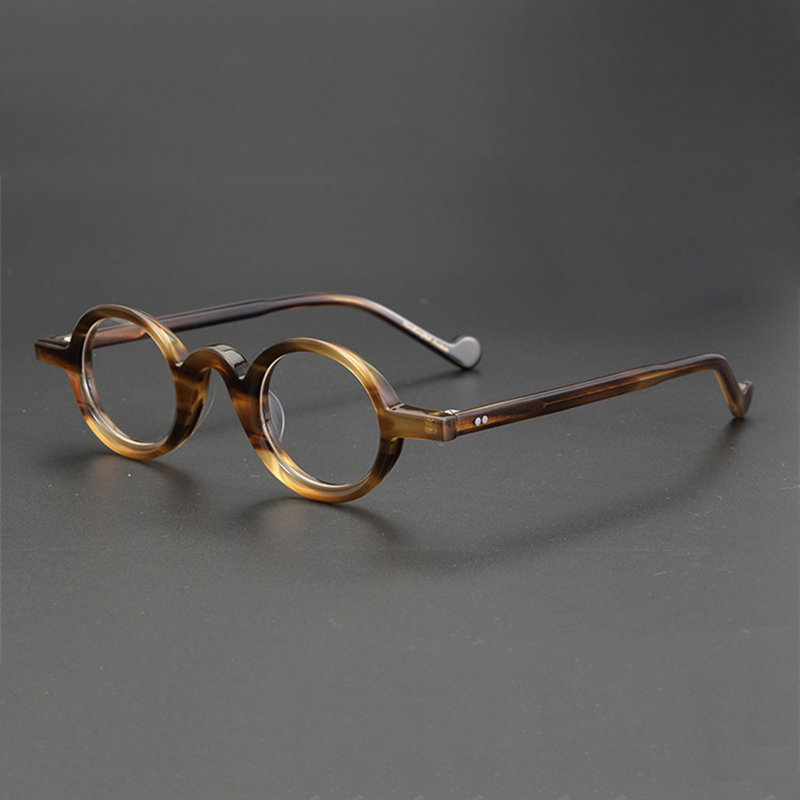 Acetate Small Round Glasses Men Retro Vintage Square Eyeglasses Frame Women Myopia Prescription Frames Spectacles Clear Eyewear
