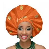 New African auto gele headtie Nigerian head wrap wedding headwear sego headband african headtie