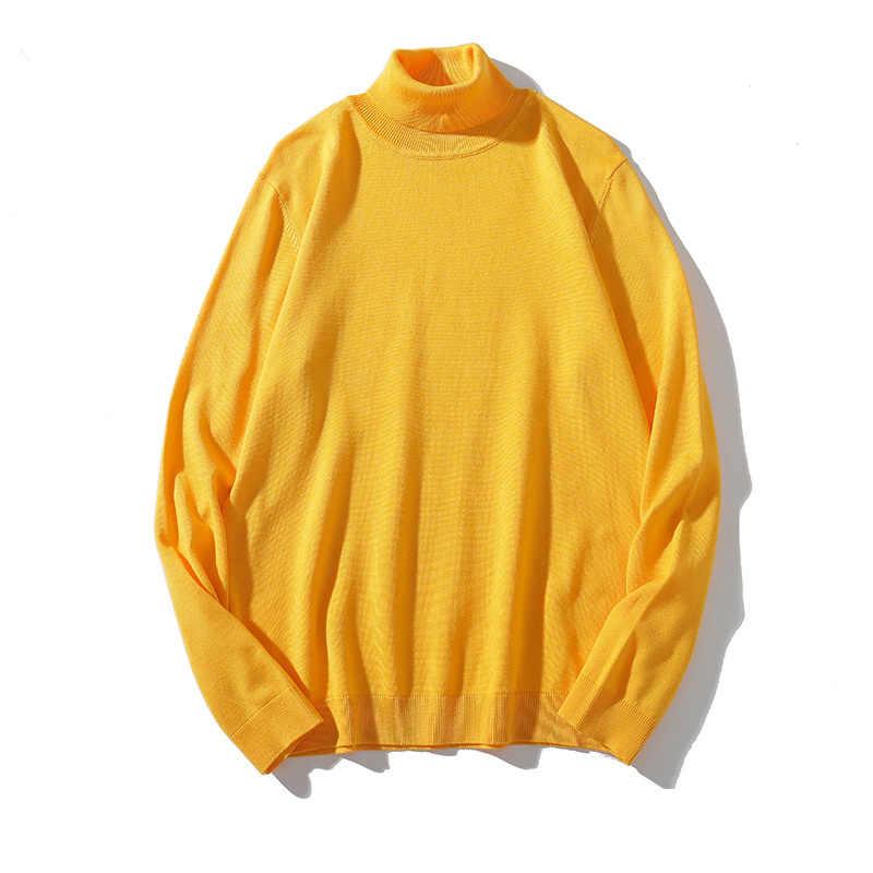 Bolubao 남자 솔리드 터틀넥 스웨터 품질 브랜드 남자 편안한 캐주얼 탑 가을 새로운 패션 간단한 풀오버 스웨터 남성