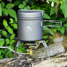 TOAKS Outdoor Camping Titanium Cookware Pan pot set with Folded handle Ultralight Portable for Backpacking picnic CKW-1100 цена