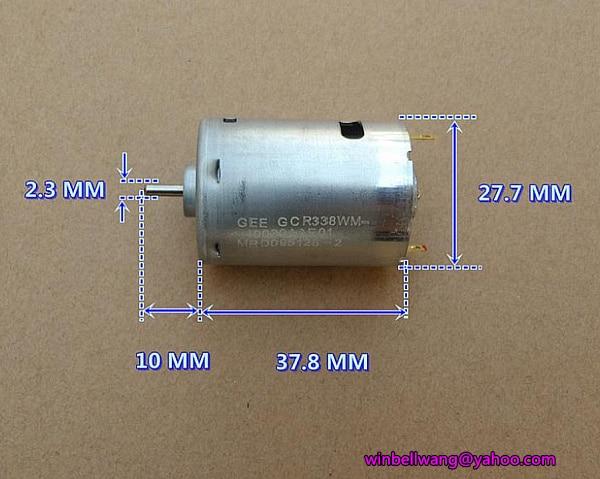 DC  6V 7.4V 18500RPM High Speed Carbon Brush RS-380 DC Motor RC Toy Model DIY