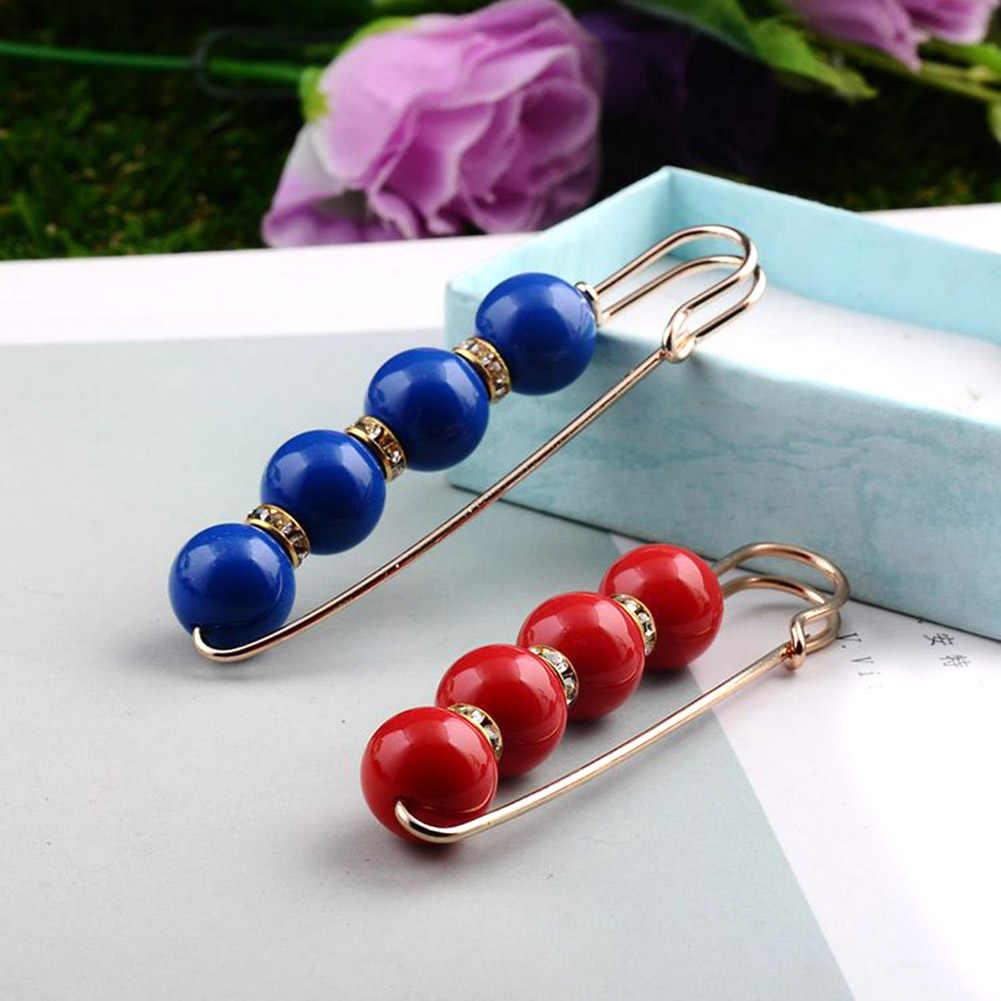 Grote Kralen Chakra OneckOha Gesimuleerde Pearl Broche Pin Jurk Strass Decoratie Gesp Pin Sieraden Broches Voor Mannen Vrouwen