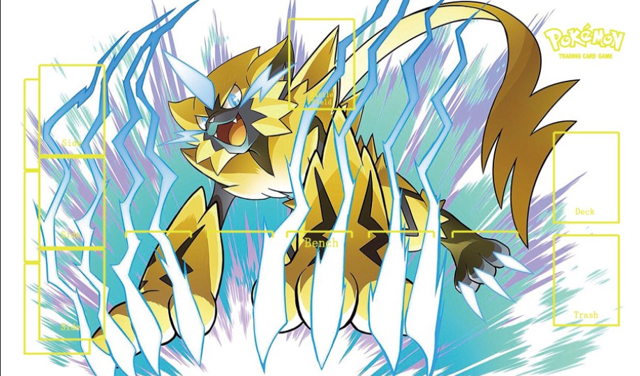 Takara Tomy PTCG Accessories Pokemon Card Tabe Game Playmat Zeraora Toys For Children