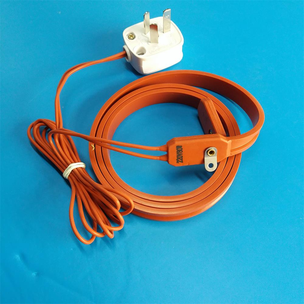 Waterproof Silicone Rubber Heating Belt Pipe Cylinder Heating Belt 220V80W With Power Plug