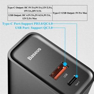 Image 2 - Baseus Dual USB Schnelle Ladegerät 30W Unterstützung Quick Charge 4,0 3,0 Telefon Ladegerät Tragbare USB C PD Ladegerät QC 4,0 3,0 ForXiaomi