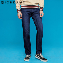 Giordano Men Jeans Denim Elastic Mid Rise Narrow Feet Quality Cotton Soft Pantalones Cortos Whiskering Denim Clothing easy matching micro elastic narrow feet denim jeans for men