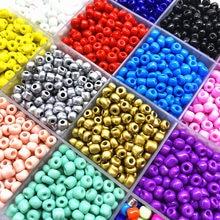 200 pçs 4mm charme tcheco contas de semente de vidro diy pulseira colar contas para fazer jóias diy brinco colar