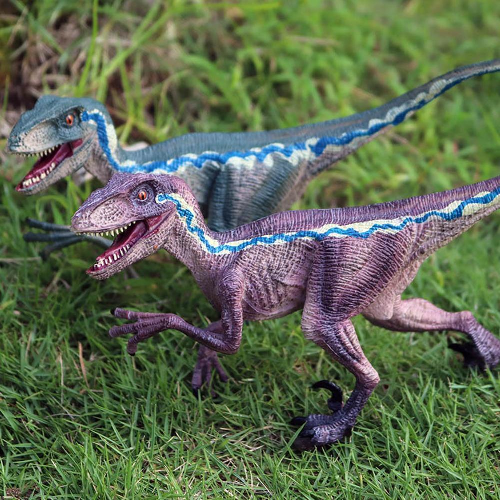 Realistic Velociraptor Dinosaur Action Figure Animal Models Collectible figurines set plastic Simulation Kids Educational Toys
