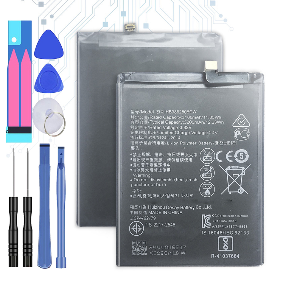 HB386280ECW Replacement Battery For <font><b>Huawei</b></font> <font><b>P10</b></font> Honor 9 STF-L09 STF-AL10 / Ascend <font><b>P10</b></font> <font><b>Bateria</b></font> 3200mAh +Tracking Number image
