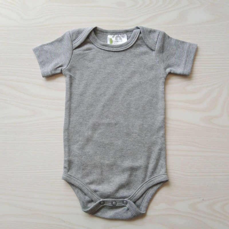 Voor 0-2Y Peuters Casual Pyjama Outfits Baby Meisjes Jongens Korte Mouw Rompertjes Baby Katoenen Kleding Pasgeboren Solid Jumpsuit