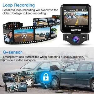 Image 5 - WonVon M5B kamera samochodowa 145 ° LCD 2.0MP Sony IMX307 IR Night Vision WiFi kamera na deskę rozdzielczą HD 1080P Dual DVR g sensor Loop Recorrding
