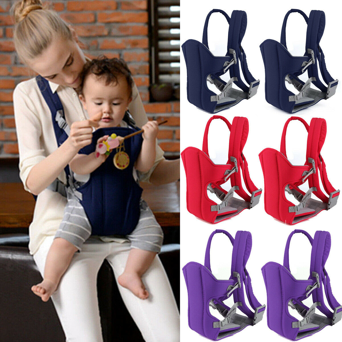 New Hot Newborn Infant Baby Carrier Ergonomic Adjustable Breathable Wrap Sling Backpack Baby Care Artifact