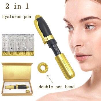 2 in 1 acid injection gun hyaluronic pen 0.3ml & 0.5ml head gold hyaluronique acid pen lip filler injector Noninvasive Nebulizer