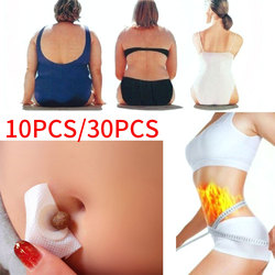 30pcs / 10pcs Fat Burning Patch Weight Loss Belly Patch Slim Detox Adhesive Sheet Chinese Slimming Patch Slim Mugwort Navel Pads