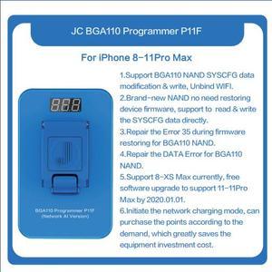 Image 1 - 更新jc P11 BGA110 プログラマnandリードプログラマiphone 8 8p × xr xs xsmax nandメモリアップグレードエラー修復ツール