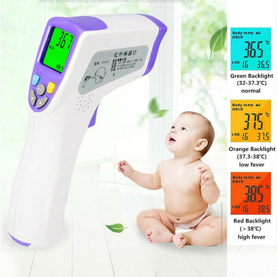 Baby Health Care Forehead Thermometer Three Backlight Color Alarm Temperature Difference For Mother & Kids Thermometer