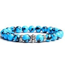 Natural Stone Bracelet Men Women Charm Bracelets bracelet Lava Turquoises Buddha chakra jewelry