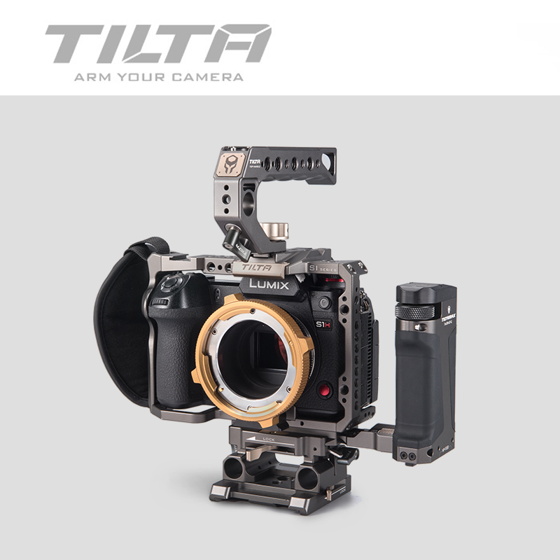Tilta TA-T38-A-G DSLR rig Camera CAGE FOR <font><b>PANASONIC</b></font> S1H S1 <font><b>S1R</b></font> camera full cage S1H rig top handle side focus handle image