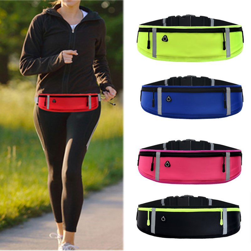 Running Sport Waist Packs Bum Bag Belly Belt Zip Hiking Pouch Camping Travel Unisex Men Women Waterproof Ultrathin Fanny Pack