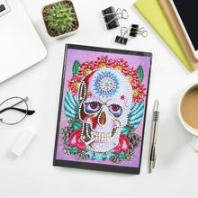 Get more info on the 50 Pages 25 Types A5 DIY Painting Notebook Diary Diamond Painting Skull Special Shaped Sketchbook Art Diamond for Child Gifts