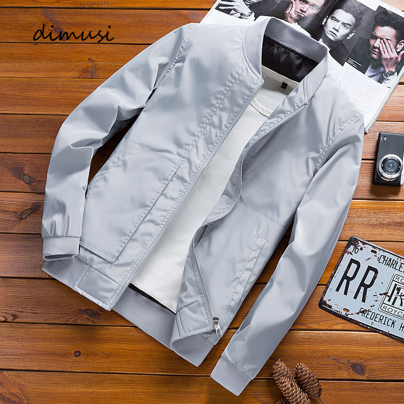 DIMUSI Men's Bomber Zipper Jacket Fashion Male Streetwear Hip Hop Slim Fit Pilot Coats Men Outwear Baseball Jackets Clothing