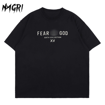 NAGRI FOG T Shirt Essential Men Streetwear Hip Hop Loose Short Sleeve T-shirts Letter Print Cotton Summer Casual Tee Tops Couple - discount item  45% OFF Tops & Tees