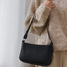 Messenger Handbags Bolsas Crossbody-Bags Alligator-Pattern Retro Women Casual Solid PU