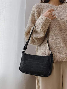 Сумка-мессенджер в стиле ретро с тиснением под кожу аллигатора, женская сумочка на плечо с клапаном, Повседневная однотонная сумка через пл...