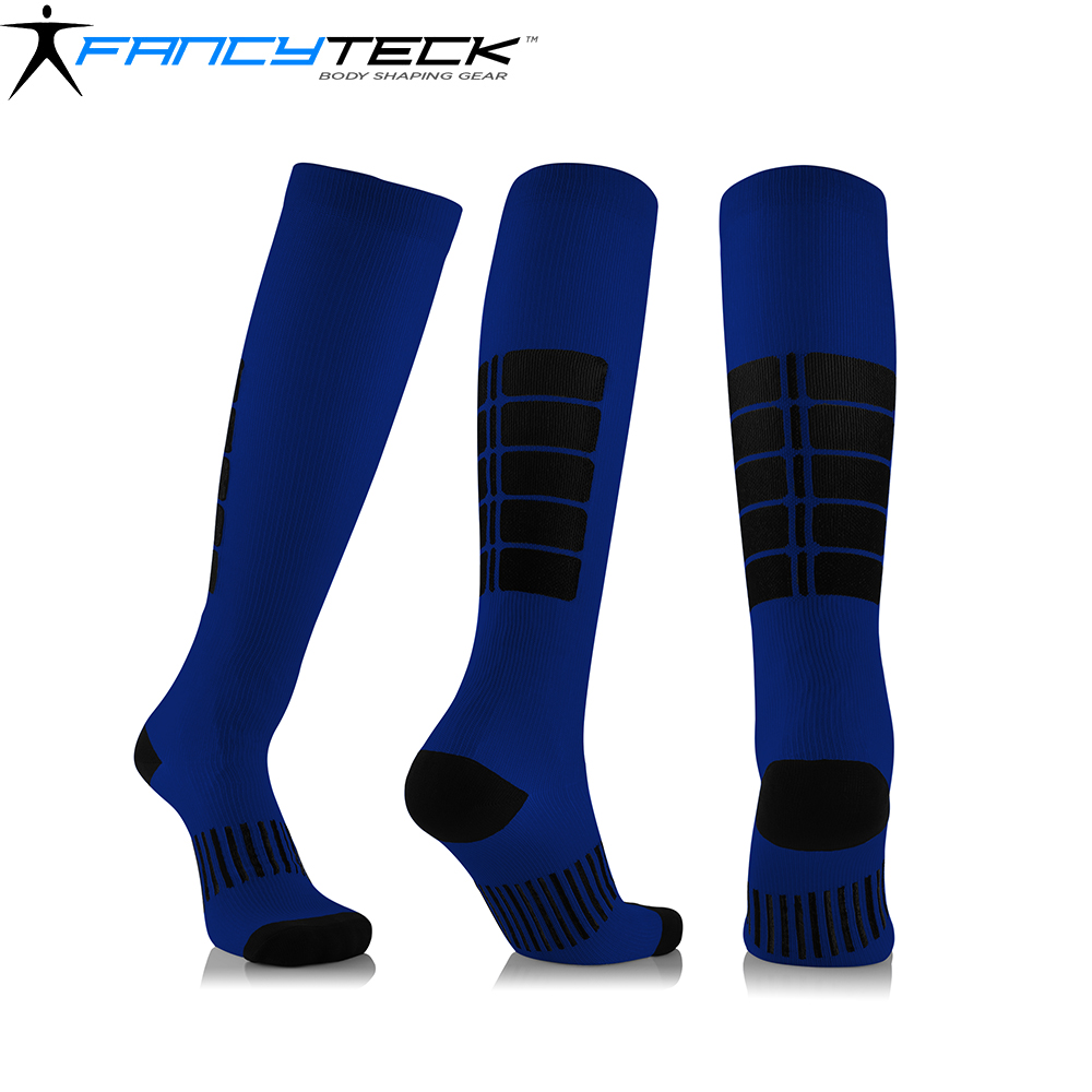 Fancyteck 10 Pair Unisex Compression Socks Antifatigue Medical Soothing Leg Relief Pain Anti Friction Breathable Running Socks