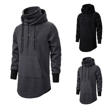 Assassin Creed Men Diablo Middle Long Hat Loose Coat Double Drawstring Pocket Hoodie Men Sweatshirts Men Off White ?????????
