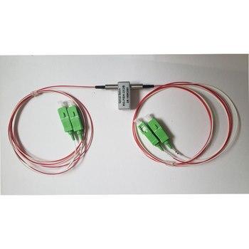 5 в фиксация или нет фиксация одиночного режима 1310нм/1550нм механический 2x2 Bypass оптический переключатель