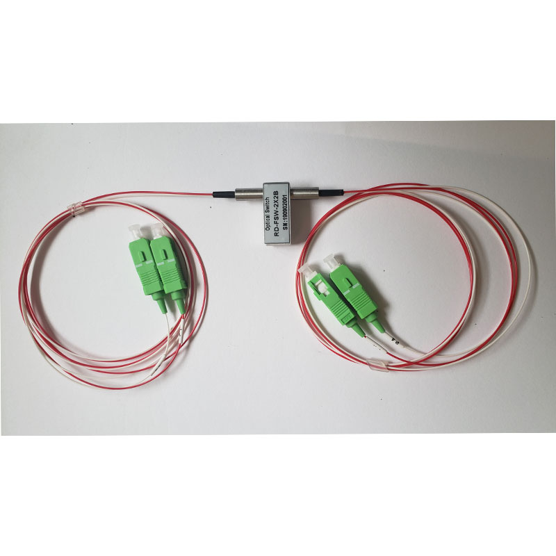 5V Latching Or None Latching Single Mode 1310nm/1550nm Mechanical 2x2 Bypass Optical Switch