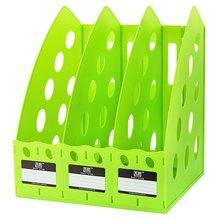 TIANSE Многофункциональный толстый TS-1305 пластик 3 секции делитель файл стойку для домашнего офиса рабочего стола хранения книжная полка
