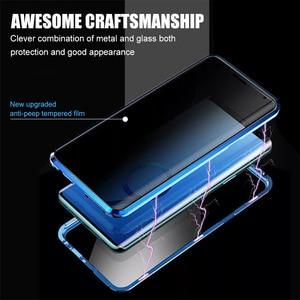 Image 4 - Privacy Metalen Magnetische Gehard Glas Telefoon Case Voor Samsung Galaxy S20 S9 S10 Plus Note 8 9 10 Magneet Anti spy Beschermende Cover